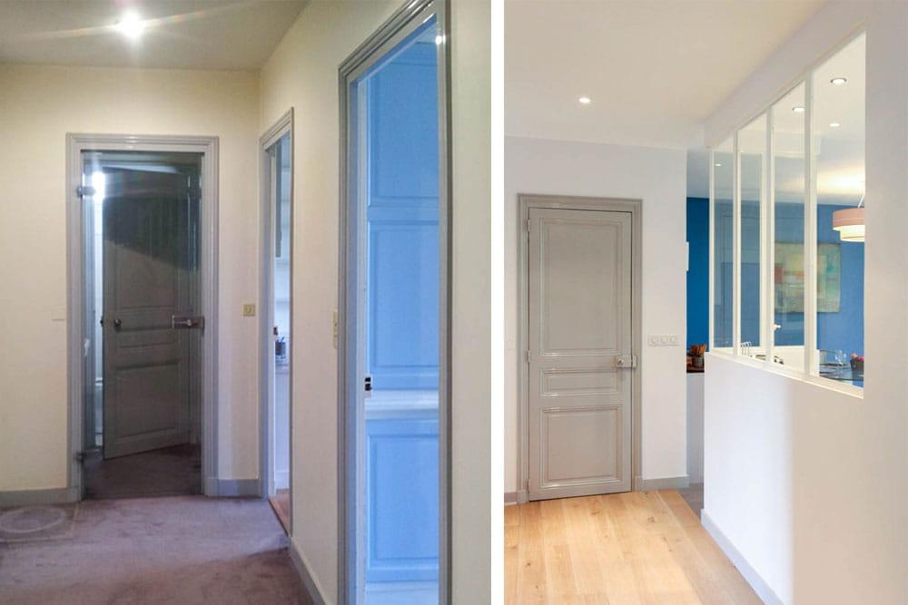 Une nouvelle ouverture lumineuse sur le couloir avant for Cuisine couloir moderne
