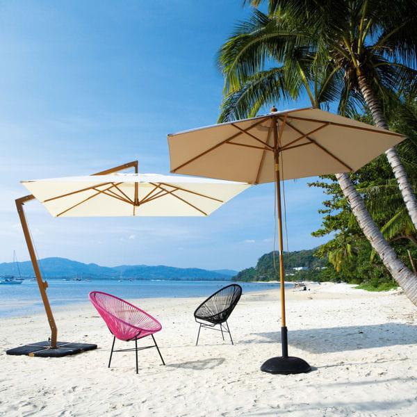 Des parasols estivaux un p 39 tit coin d 39 ombre dans le for Portent un parasol dans les jardins