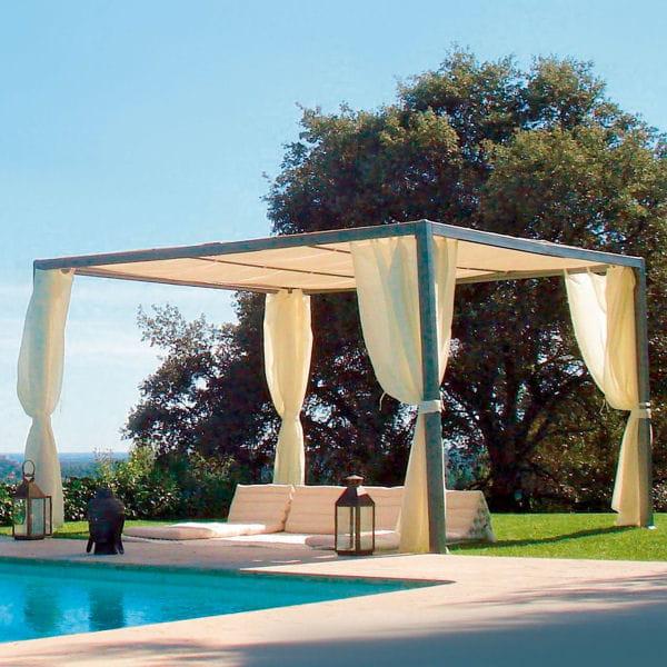 une tonnelle chic et contemporaine un p 39 tit coin d 39 ombre dans le jardin journal des femmes. Black Bedroom Furniture Sets. Home Design Ideas