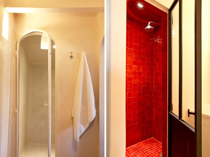 des douches et des couleurs l 39 atmosph re brute et naturelle d 39 une maison de campagne journal. Black Bedroom Furniture Sets. Home Design Ideas