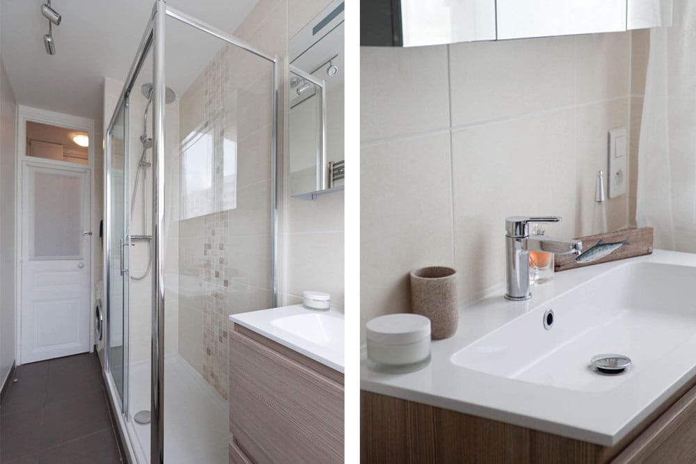 une nouvelle salle d 39 eau buanderie un nouvel appart 39 sans d m nager journal des femmes. Black Bedroom Furniture Sets. Home Design Ideas
