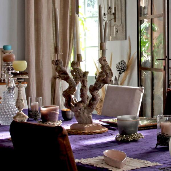 Bougeoir originale en bois flott que faire avec du bois for Bougeoire en bois flotte
