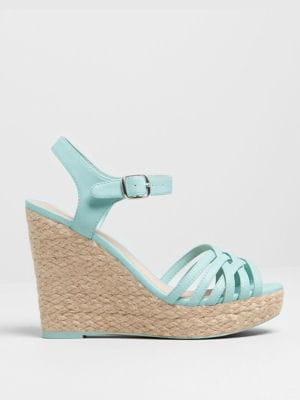 sandales compensées de pull & bear