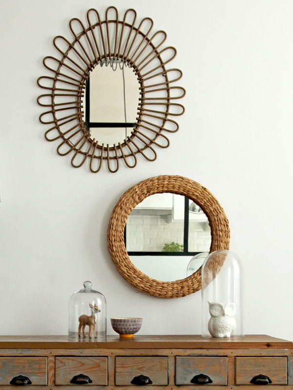 Miroir mon beau miroir le rotin et l 39 osier pour une for Deco miroir rotin