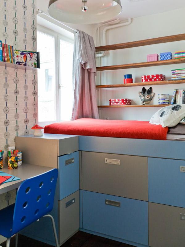 Mini chambre maxi rangement des chambres d 39 enfant - Estrade avec rangement ...