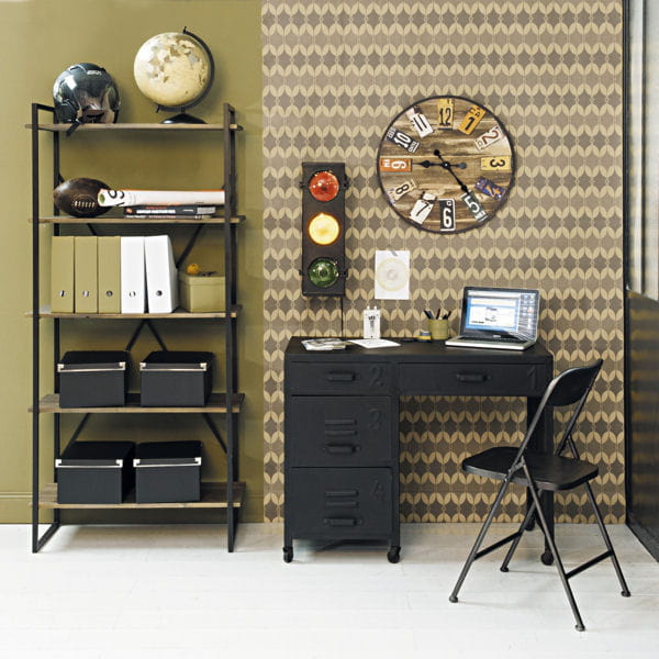 style industriel 20 petits bureaux gain de place journal des femmes. Black Bedroom Furniture Sets. Home Design Ideas