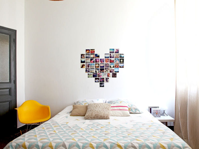 une d co murale personnalis e 50 id es originales pour refaire sa t te de lit journal des femmes. Black Bedroom Furniture Sets. Home Design Ideas