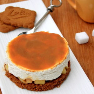 Cheesecake sans cuisson aux sp culoos pommes et confiture de lait - Cheesecake sans cuisson speculoos ...