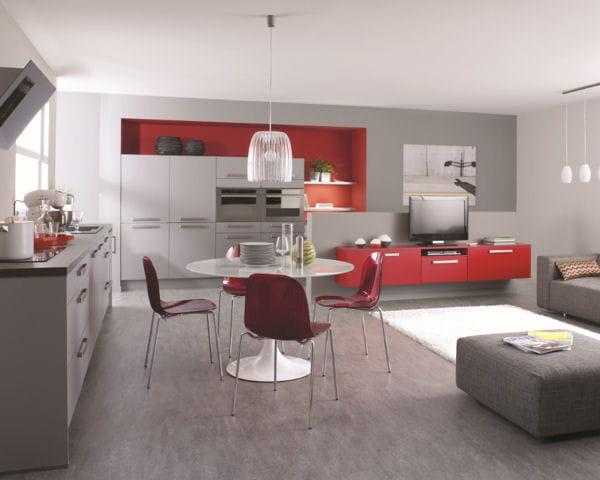 une pi ce vaste et agr able quand la cuisine s 39 int gre au s jour journal des femmes. Black Bedroom Furniture Sets. Home Design Ideas