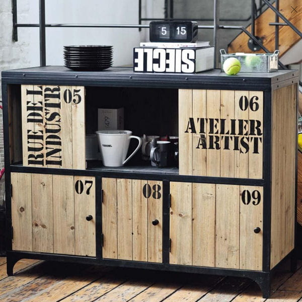 Fa on atelier d 39 artiste la d co mot mot journal des - Buffet industriel maison du monde ...