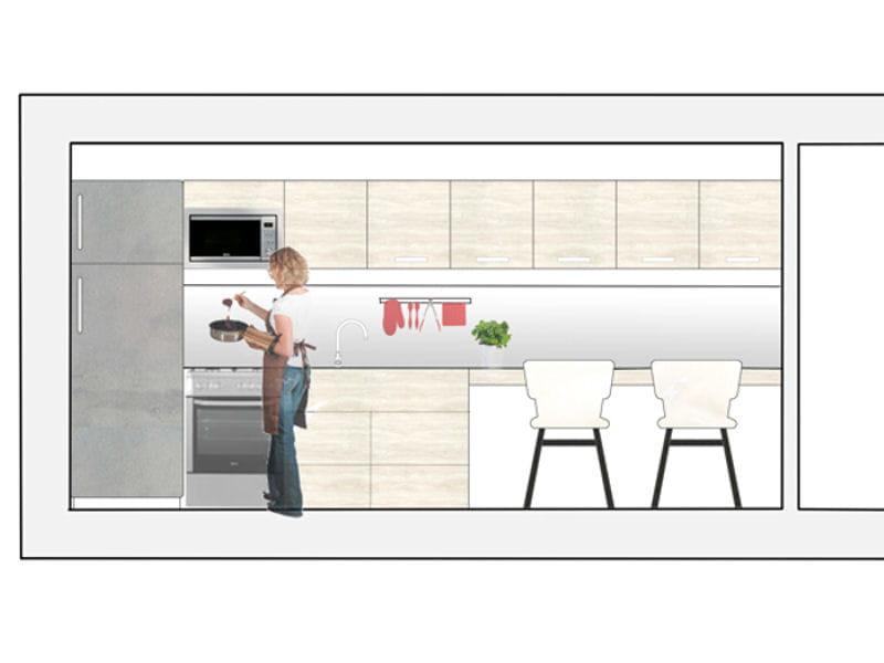 la cuisine en i id ale pour les petits espaces 5 plans pour bien am nager sa cuisine. Black Bedroom Furniture Sets. Home Design Ideas