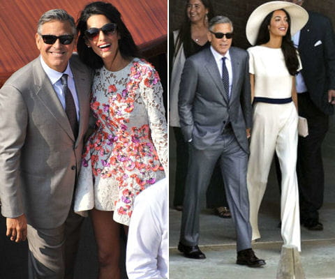 la robe de mari e d 39 amal alamuddin en photos journal des