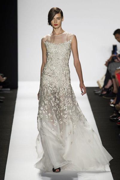 la robe lam e marc valvo fashion week les plus belles