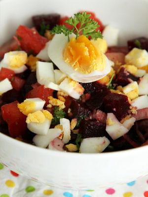 recette minceur salade de betteraves l 39 uf dur les recettes minceur pour d jeuner au. Black Bedroom Furniture Sets. Home Design Ideas
