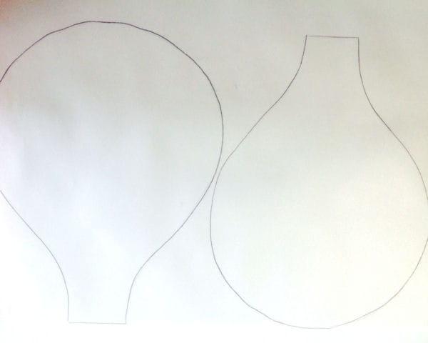 etape 1 dessiner le patron du ballon. Black Bedroom Furniture Sets. Home Design Ideas