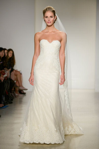 la robe pr s du corps anne barge bridal week 2015 de new york les plus belles robes. Black Bedroom Furniture Sets. Home Design Ideas