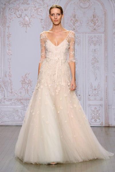 La robe poudr e monique lhuillier bridal week 2015 de for Monique lhuillier robes de mariage