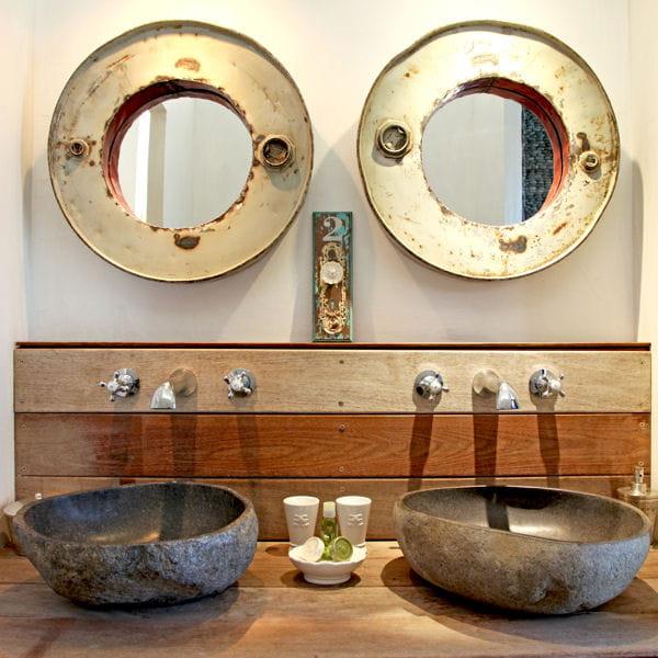 De simples planches de bois brut 20 meubles sous vasque - Meuble en recup ...