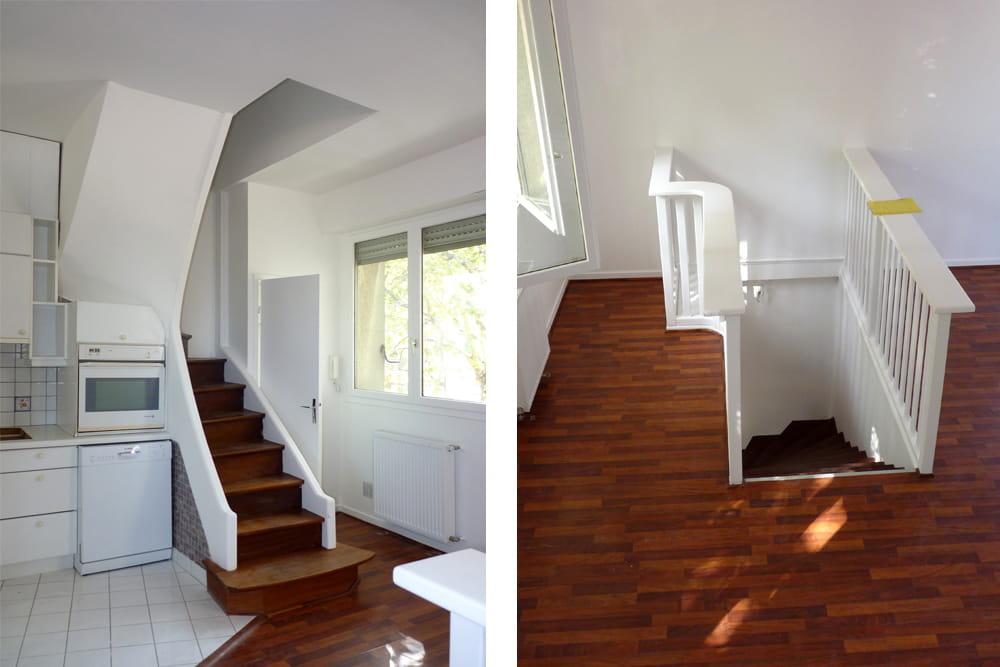 avant de petits escaliers mal plac s. Black Bedroom Furniture Sets. Home Design Ideas