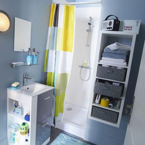 Le bon mobilier pour une petite salle de bains for Petit meuble pour petite salle de bain