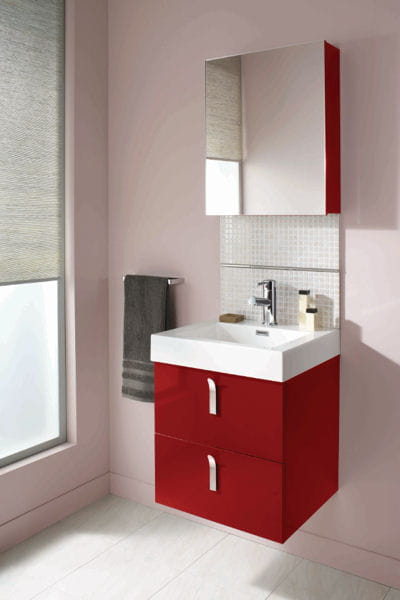 Meuble vasque gloss brico d pot for Meuble sous lavabo brico depot