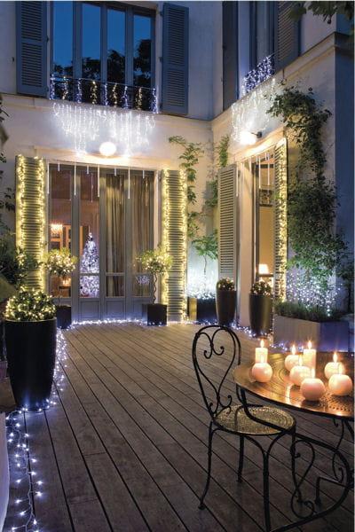Un jardin illumin pour no l for Lumieres exterieures pour jardin