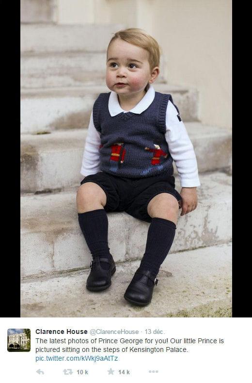 Le prince george prend la pose pour no l journal des femmes - Pose original pour photo ...
