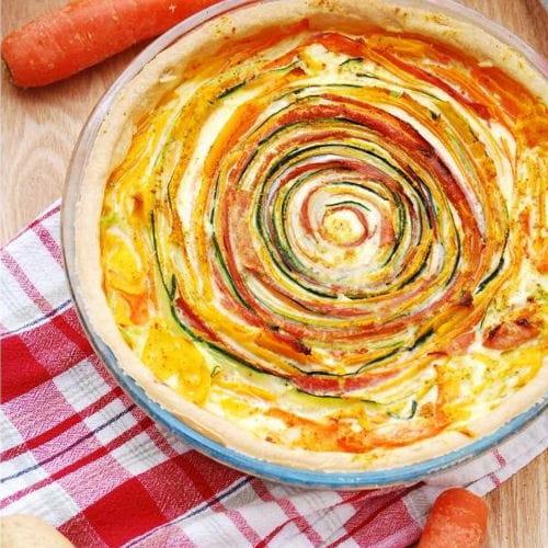 Tarte soleil aux l gumes 40 recettes bien roul es journal des femmes - Tarte soleil aux pommes ...