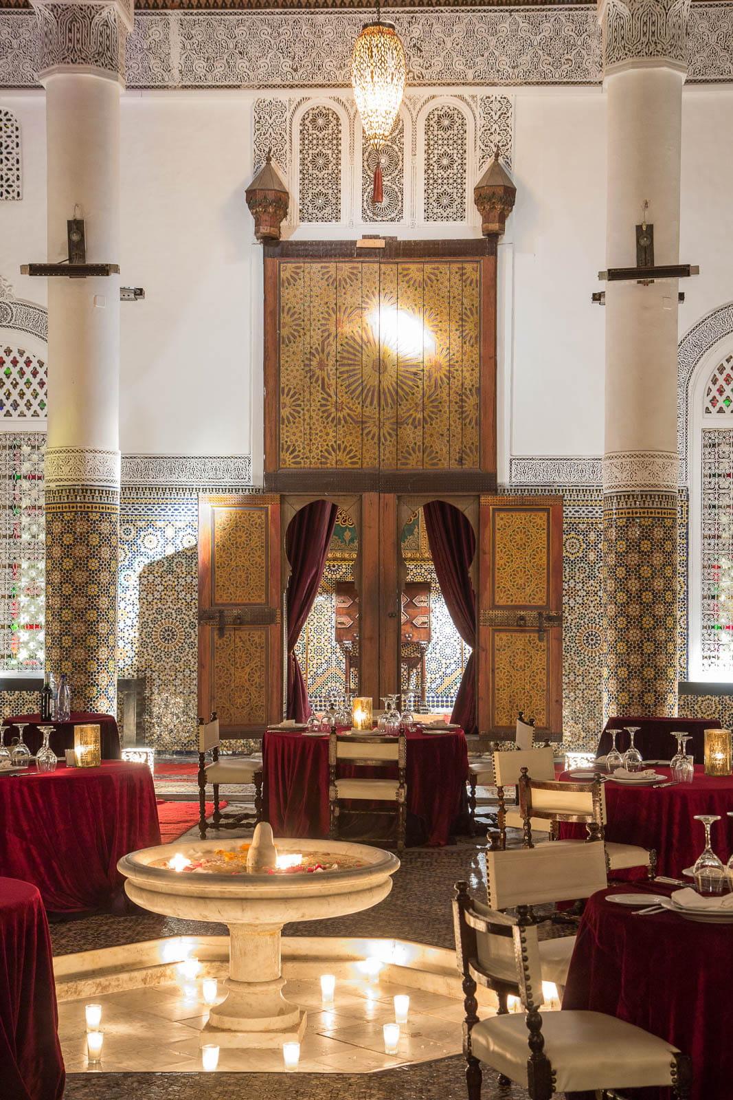 Un d cor digne des mille et une nuits le palais soleiman for Decoration mille et une nuit