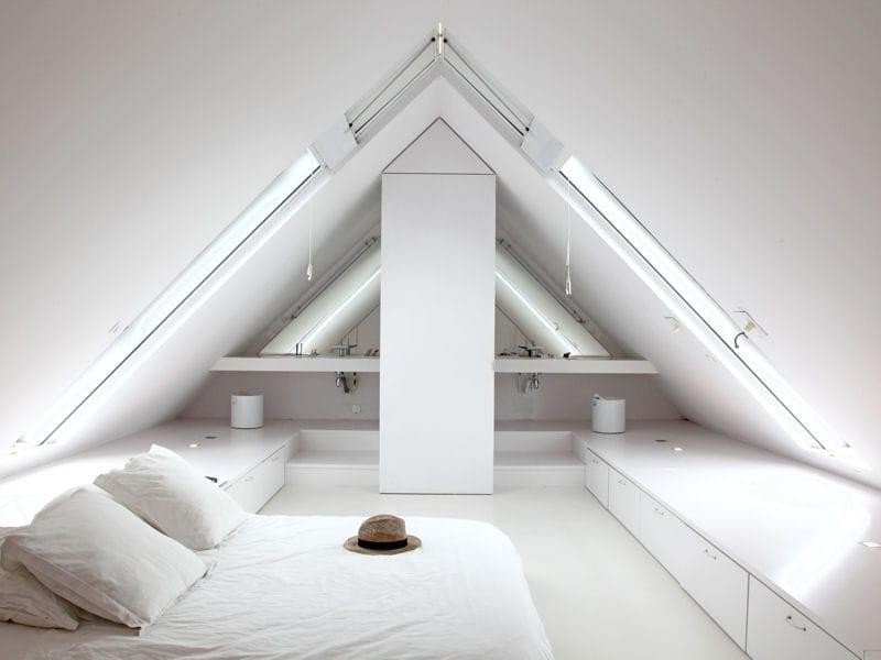Total look white comment faire une salle de bains ouverte sur la chambre - Comment faire une salle de cinema ...