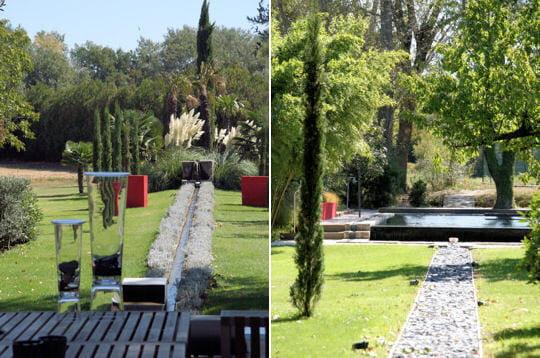 Touches de rouge dans le jardin un mas proven al version design par g rard faivre journal - Jardin design magazine ...