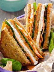 club sandwich graines épinard et chèvre