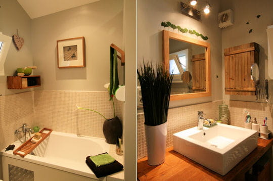 salle de bains tr s v g tale une maison de famille journal des femmes. Black Bedroom Furniture Sets. Home Design Ideas