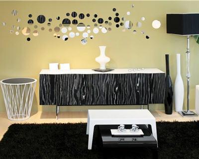 effet miroir les stickers font le mur journal des femmes. Black Bedroom Furniture Sets. Home Design Ideas