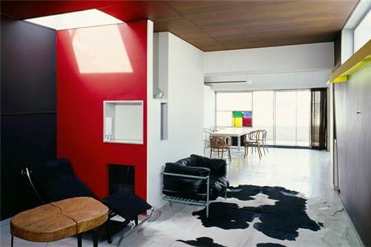 salon et salle à manger - grâce à son système de voûtes, l'architecte a pu se