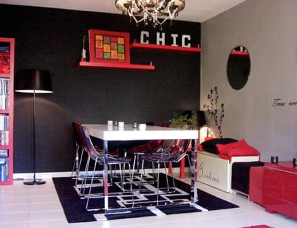 Salle A Manger Rouge Et Noir  Maison Design  HosnyaCom