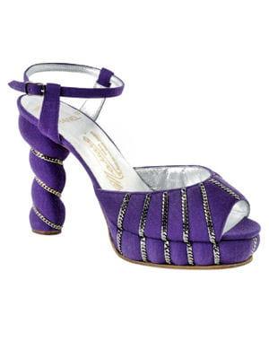 escarpin violet et blanc