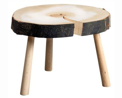 Un rondin nature 10 tables basses pour le salon for Table basse rondin de bois