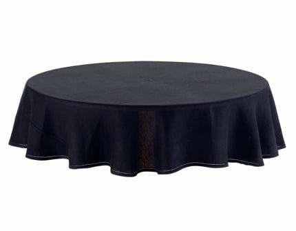 Une nappe en noir quatre mises en table de f tes for Une nappe de table