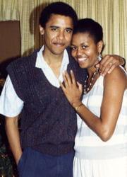 michelle et barack lors de leurs premières vacances à hawaï en 1989.