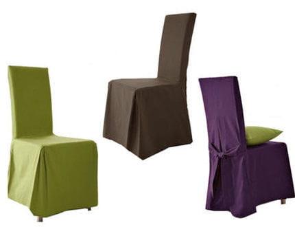 Pour des chaises color es - Housse de chaise extensible la redoute ...