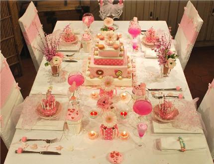 déco de table rose #4