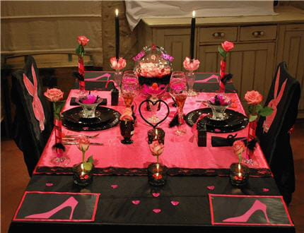 decoration de table rose