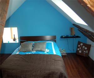 Chambre Vert Anis Et Marron - Chambre Turquoise Et Marron - Bahbe.com