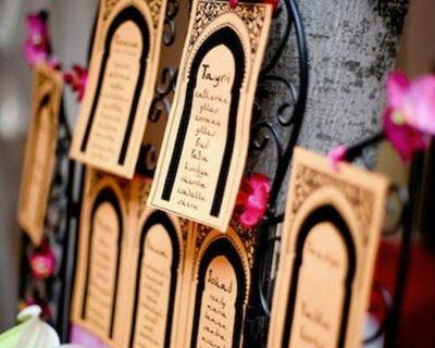 Le plan de table l 39 orientale le mariage des mille et - Decoration mariage mille et une nuit ...