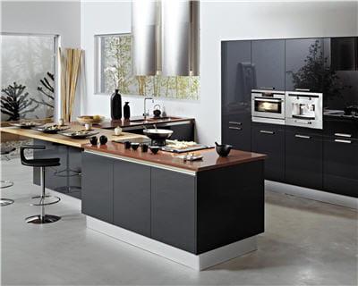jeu de contrastes 20 cuisines 4 styles journal des femmes. Black Bedroom Furniture Sets. Home Design Ideas
