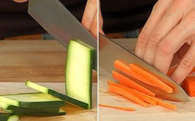 Etape 1 d couper les l gumes en julienne - Facon de couper les legumes ...