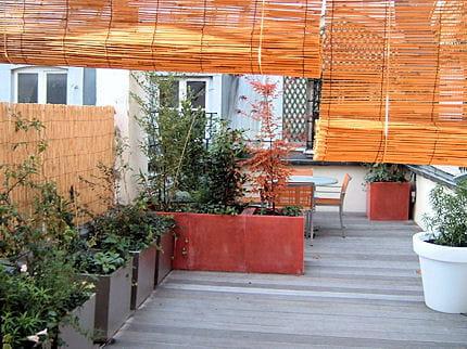 esprit japonais six projets de designer pour relooker son balcon journal des femmes. Black Bedroom Furniture Sets. Home Design Ideas