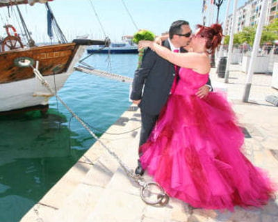 robe de mariée rose 2013
