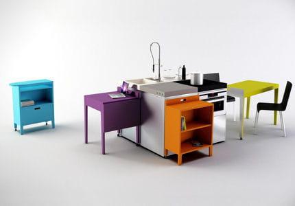 une cuisine modulable souhait cuisines de demain journal des femmes. Black Bedroom Furniture Sets. Home Design Ideas